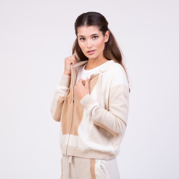 Women's Cashmere Angelina Hoodie | Camel