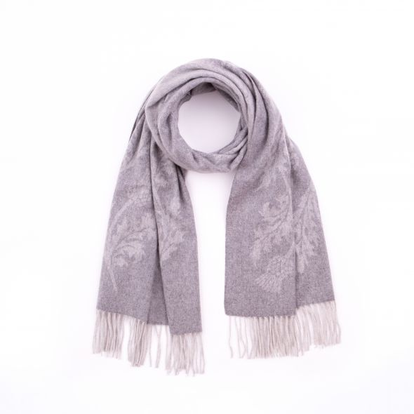 Cashmere Jacquard Stole | Light Grey