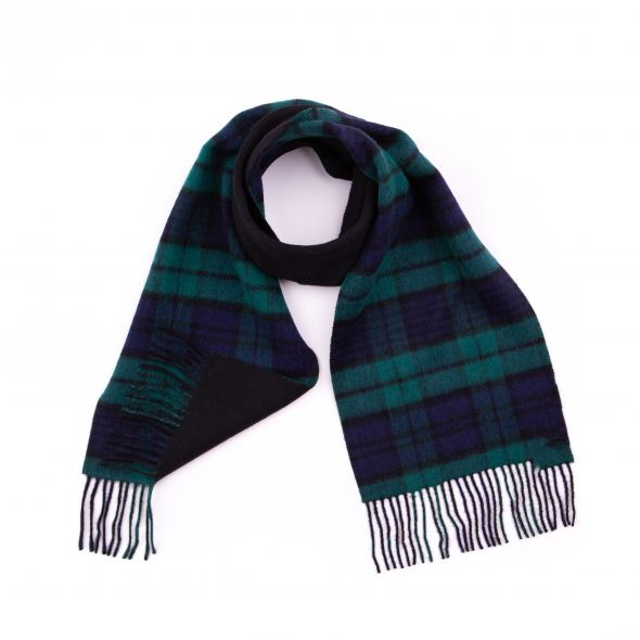 Double Faced Lambswool Scarf | Blackwatch