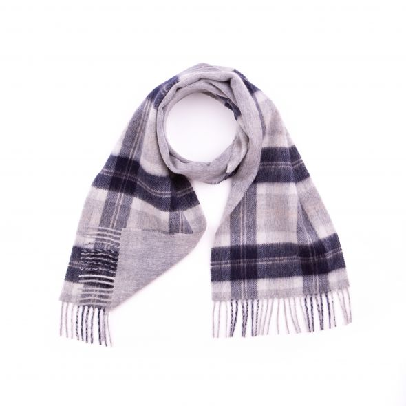 Double Faced Lambswool Scarf | Silver