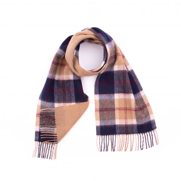 Double Faced Lambswool Scarf | Navy Bannockbane