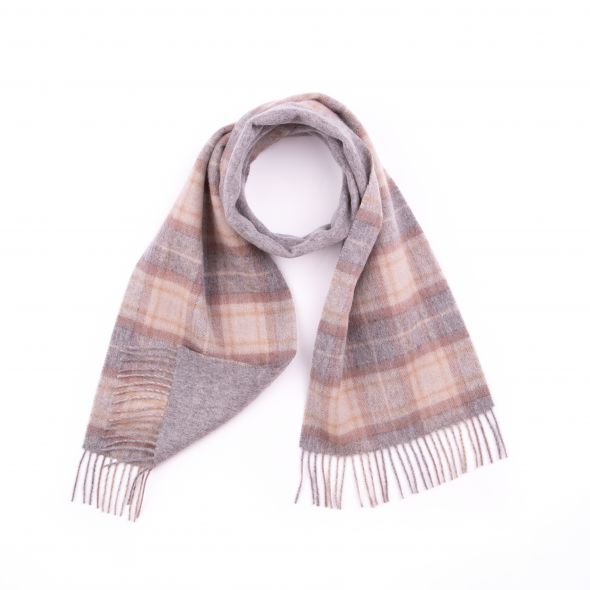 Double Faced Lambswool Scarf | Natural