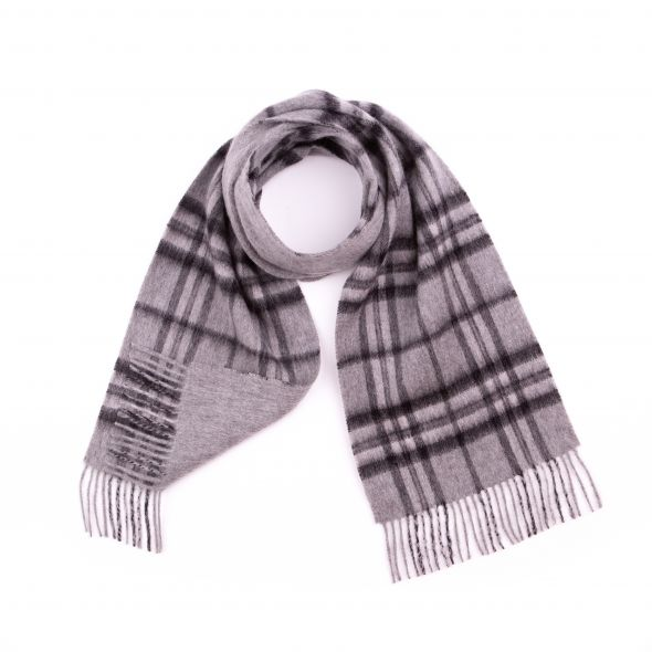 Double Faced Lambswool Scarf | Monochrome Thompson