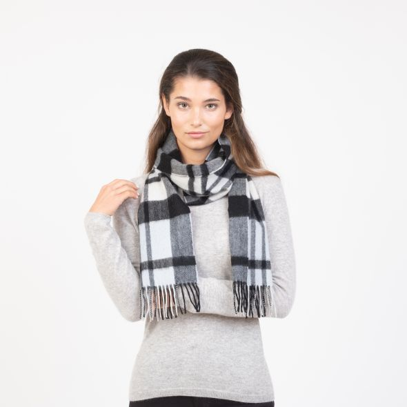 Cashmere Scarf | Super Exploded Thompson Baby Blue
