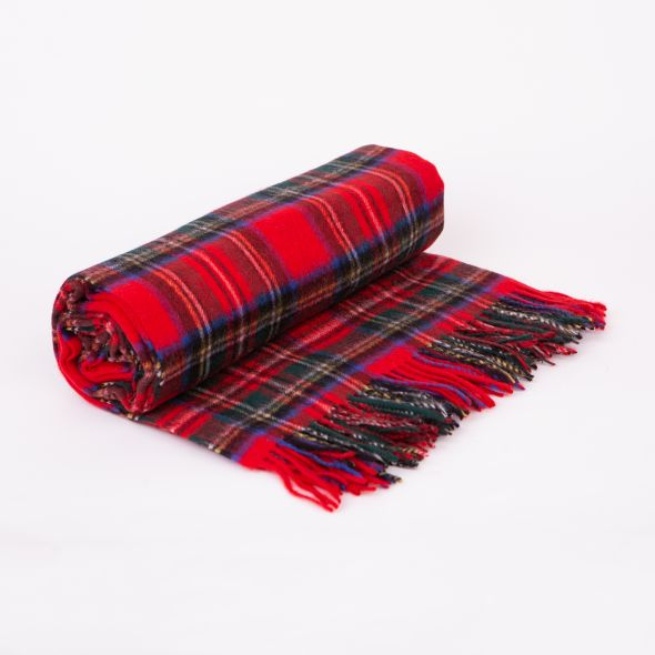 Lambswool Throw | Official Royal Stewart