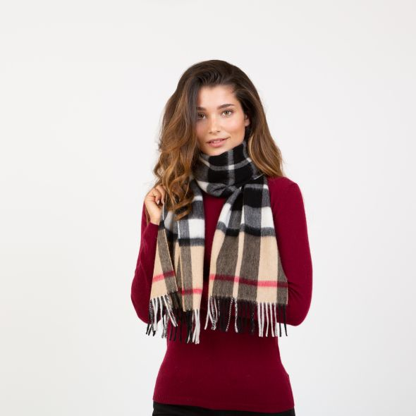 Lambswool Scarf | Exploded Camel Thompson