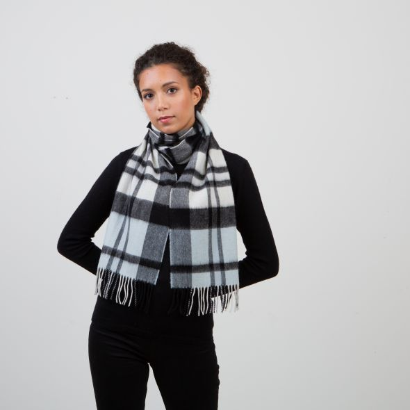 Lambswool Scarf | Super Exploded Thompson Baby Blue