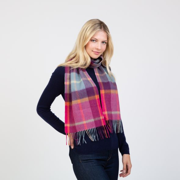 Lambswool Scarf | Colourful Exploded Scotty Thompson
