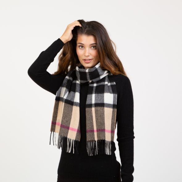 Lambswool Scarf | Exploded Camel Thompson Pink