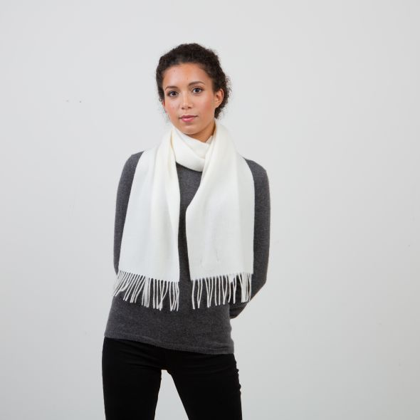 Lambswool Scarf   Off White