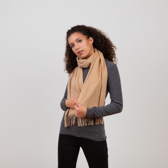 Lambswool Scarf   Warm Camel