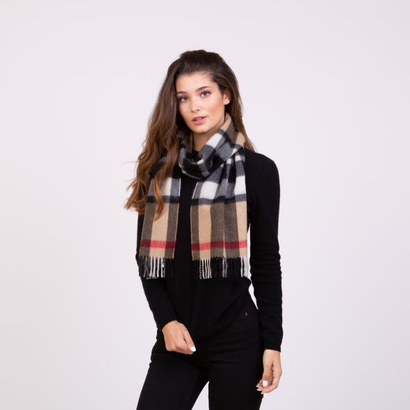 Made In Scotland Cashmere Scarf | Exploded Camel Thompson