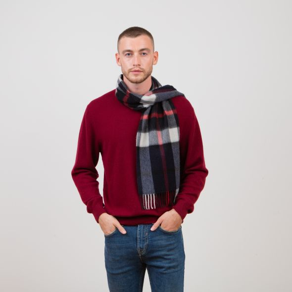 Made In Scotland Cashmere Scarf | Exploded Navy Thompson