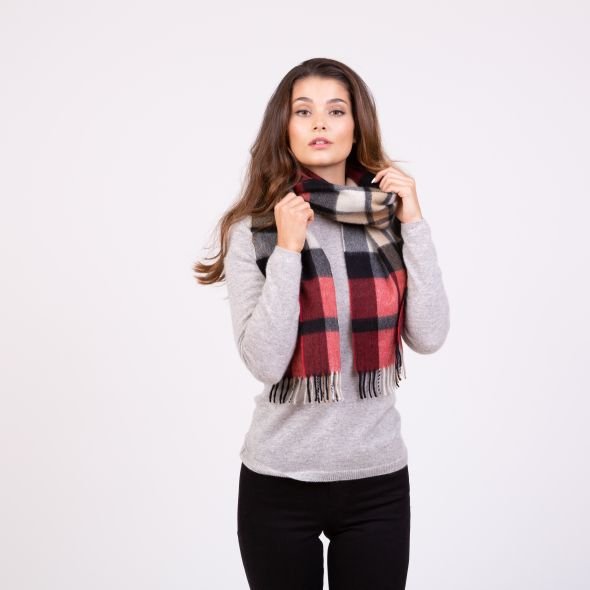 Made In Scotland Cashmere Scarf | Exploded Red Thompson
