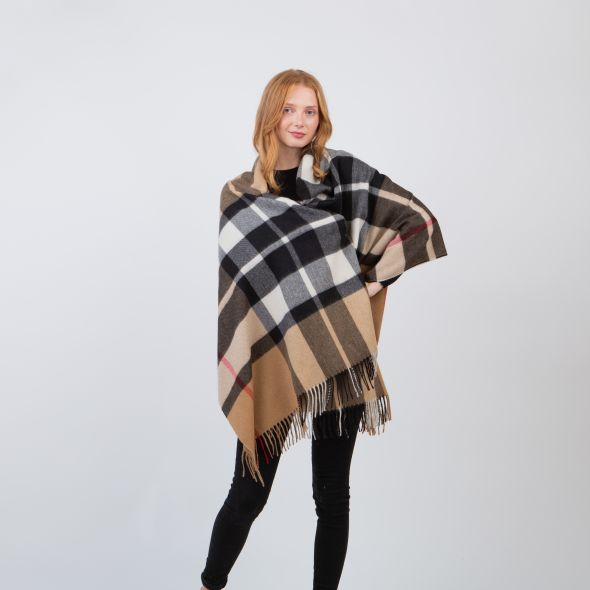 Made In Scotland Cashmere Stole   Expl Camel Thompson