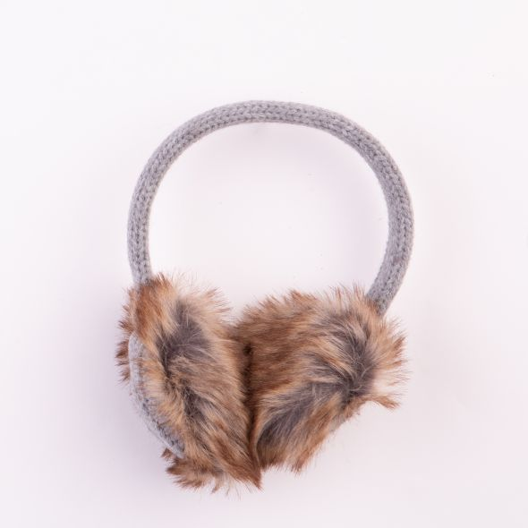 Cable Knit Earmuffs | Grey