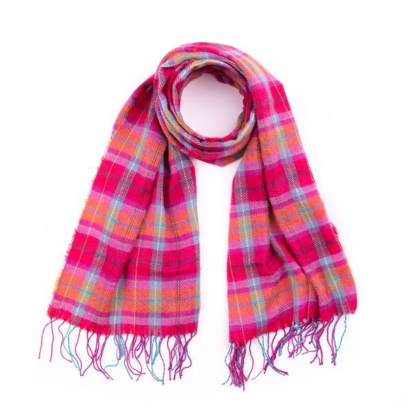 Wilfred Acrylic Check Scarf | Melrose