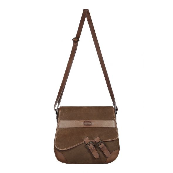 Dubarry Boyne Leather Cross Body Bag | Walnut