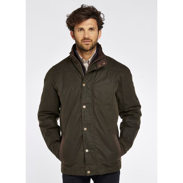 Dubarry Carrickfergus Waxed Jacket | Olive