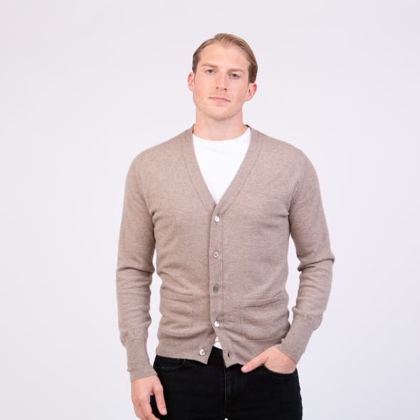 Men's Made In Scotland Oxton Cardigan | Natural