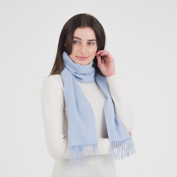 Lambswool Scarf | Cashmere Blue Plain