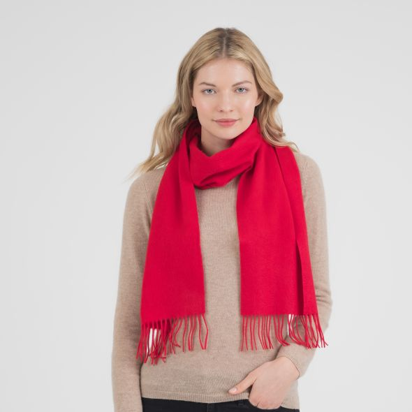 Cashmere Scarf | Chinese Red Plain