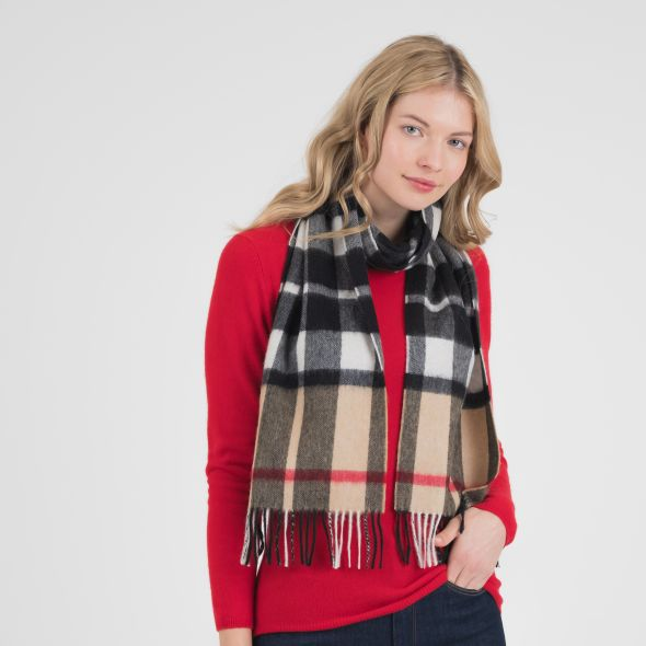 Cashmere Scarf | Exploded Camel Thompson