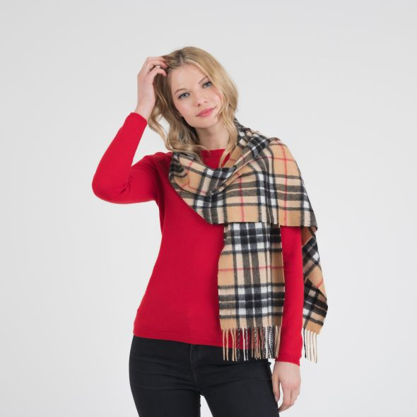 Cashmere Wide Scarf | Official Scotty Camel Thompson