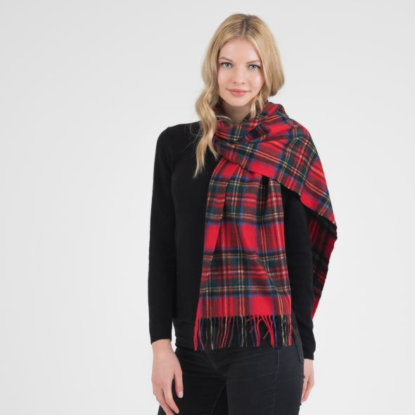 Cashmere Wide Scarf | Official Royal Stewart