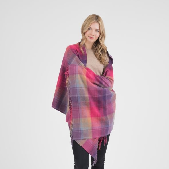 Cashmere Stole | Pink Repeat Edge