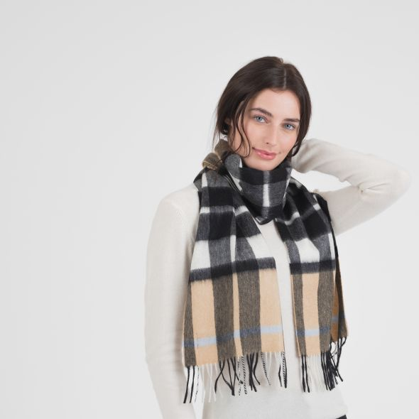 Cashmere Scarf | Exploded Camel Thompson Blue