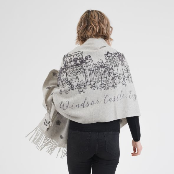 Cashmere Double Sided Printed Stole | Royal Windsor Castle