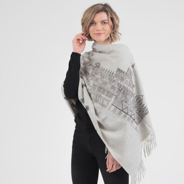 Cashmere Double Sided Printed Stole | The City Of York