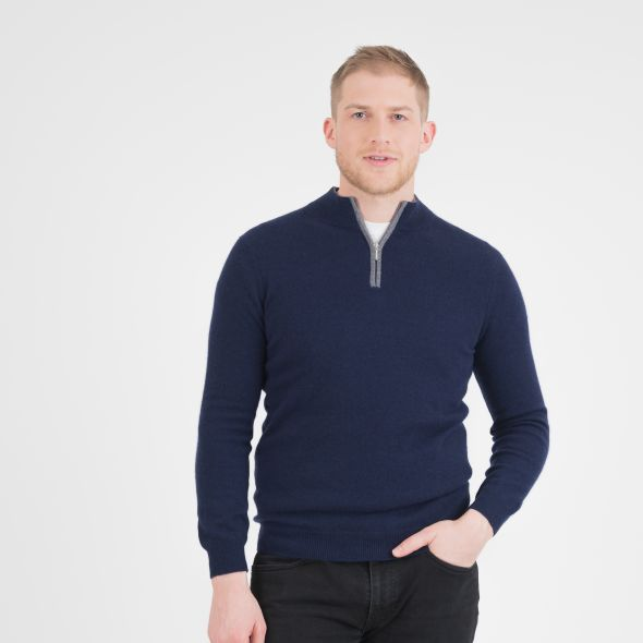 Men's Half Zip Jumper | Navy